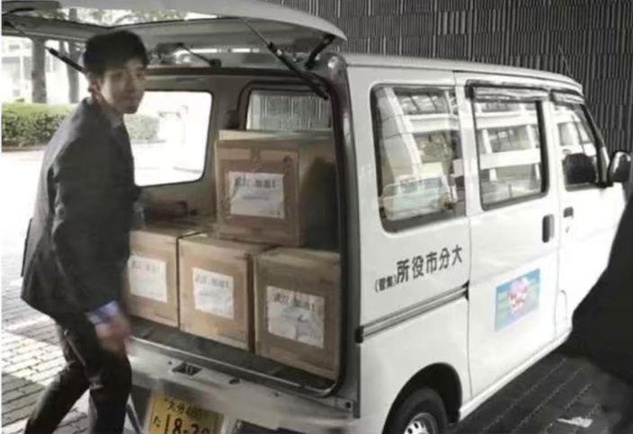大分市送物資到去武漢。