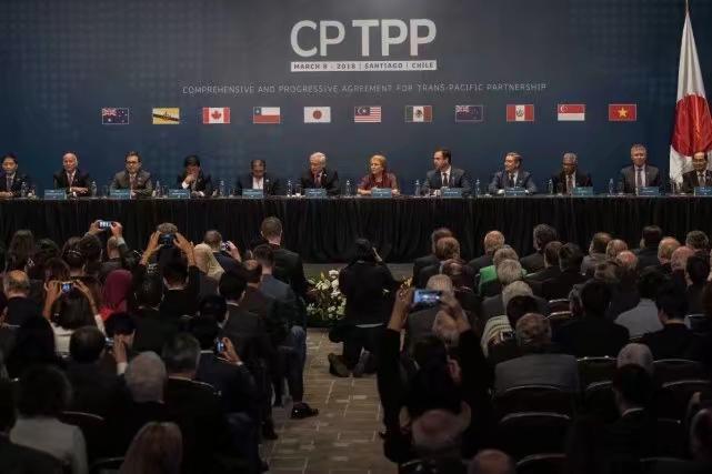 2018年3月8日,11國在智利共同簽署CPTPP。新華社圖片