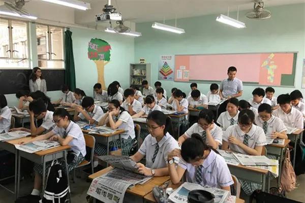 香港學生上課時