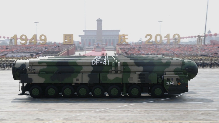 「東風-41」亮相中國建國70周年閱兵。(資料圖片)