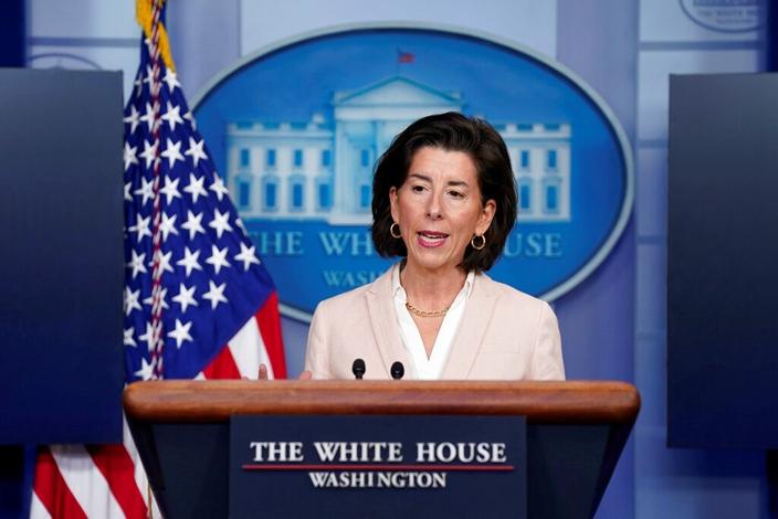 美國商務部長雷蒙多(AP圖片)