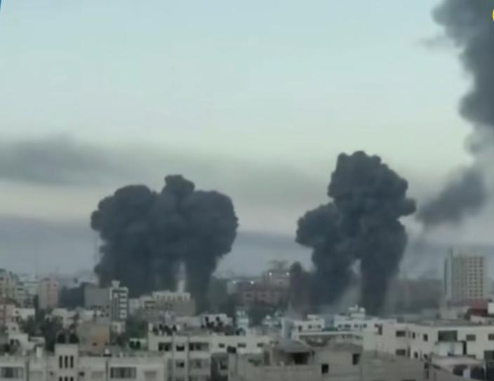 以巴衝突,以色列戰機炸毀巴勒斯坦加沙地帶一系列警務和安全設施。