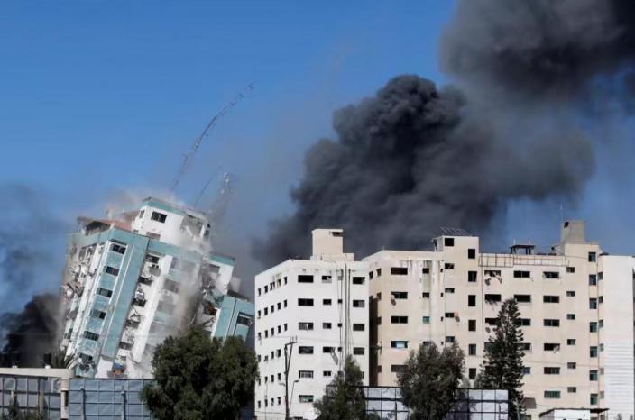 以色列炸毀媒體機構大廈。