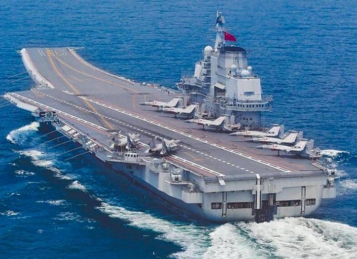 中國航母遼寧號。
