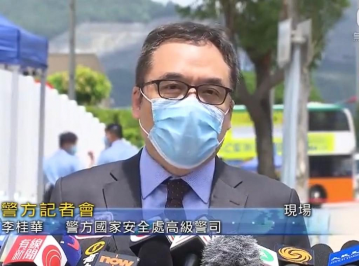 警方國安處高級警司李桂華。無綫新聞截圖