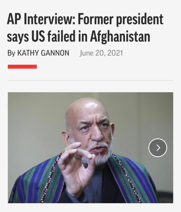 阿富汗前總統卡爾扎伊。