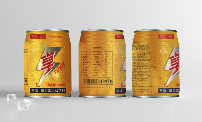 """天韵國際去年底開始在中國銷售的新自家品牌""""享派 Shiok Party""""能量飲品。"""