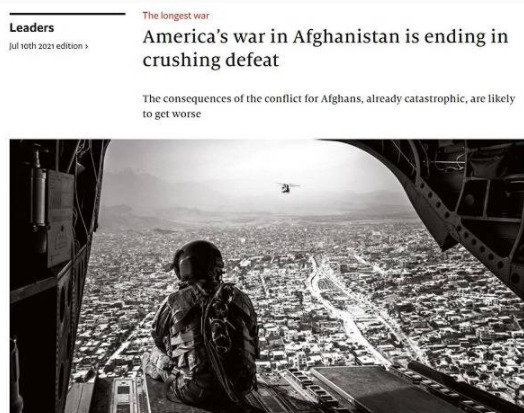 英國《經濟學人》發表文章,認為阿富汗戰爭是一場發人深省的失敗