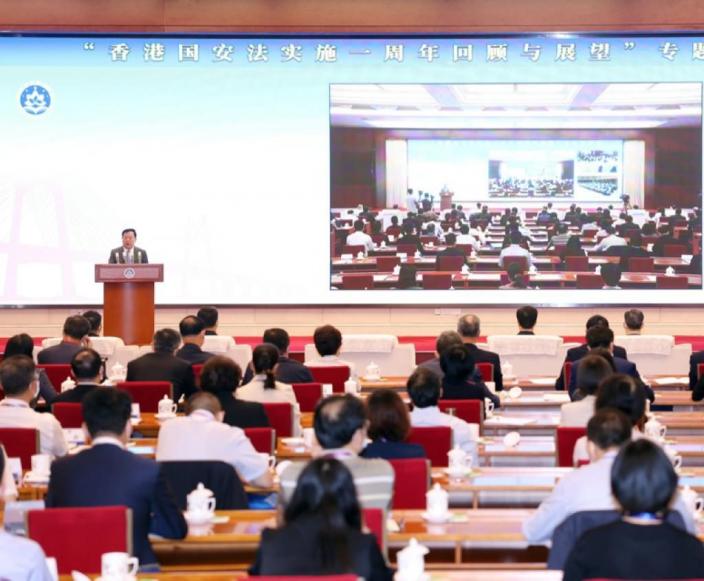 港澳辦主任夏寶龍上周發表講話。