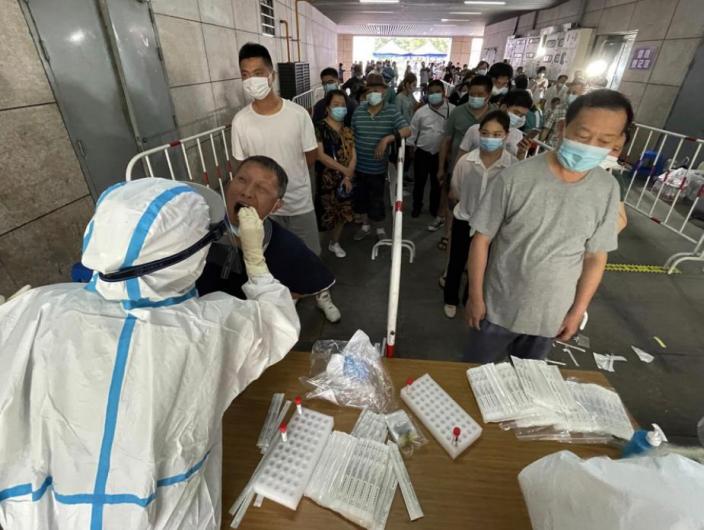 南京各區已經展開全員核酸檢測工作。