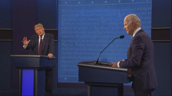 在去年的美國大選期間,特朗普就多次攻擊拜登「痴呆」。資料圖片
