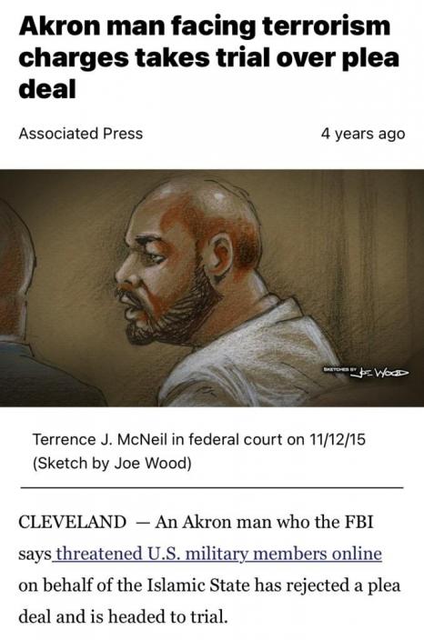 麥克尼爾受審。