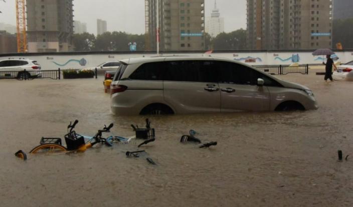 市內很多街道水浸。