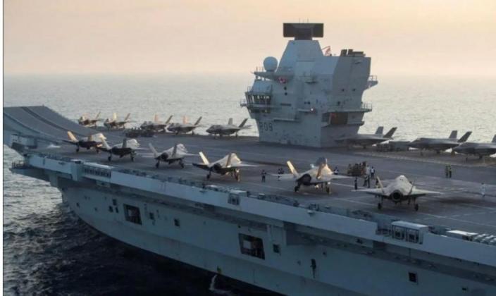 英國「伊麗莎白女王」號航母打擊群於上周日進入中國南海海域。