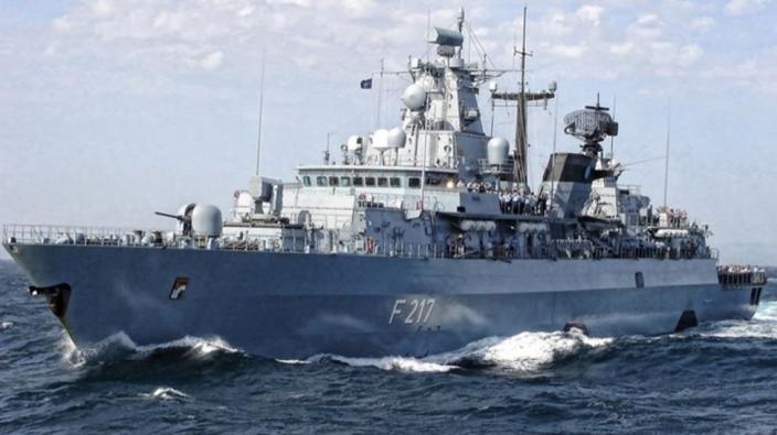德國「巴伐利亞號」護衛。網上圖片
