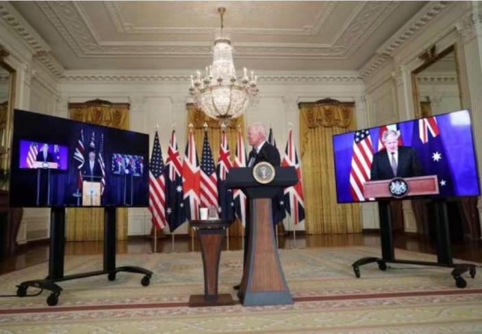 英美澳突然宣佈達成防衛協議「AUKUS」。