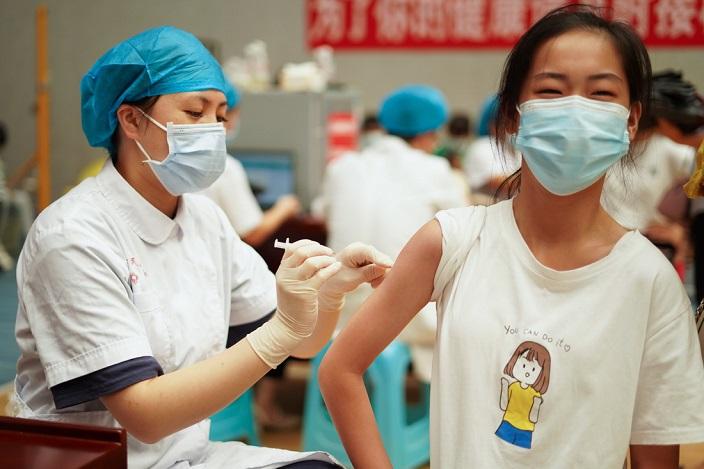 全國已經有10億人完成疫苗接種。