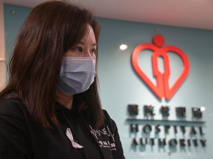 醫管局員工陣線前主席余慧明。