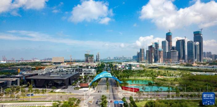 深圳前海深港現代服務業合作區。新華社圖片