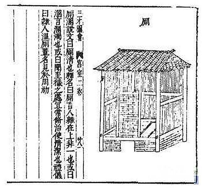 《說文解字》中「廁」的解釋 (網上圖片)