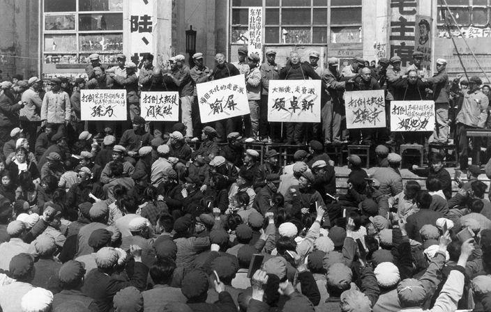 文革時的批鬥大會 (網上圖片)
