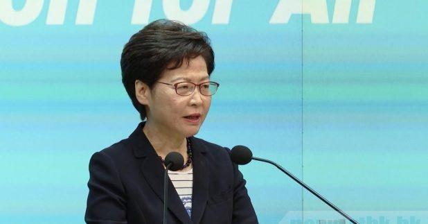 林鄭月娥強調,香港國安法是有法必用、執法必嚴、違法必究。(廖漢榮攝)