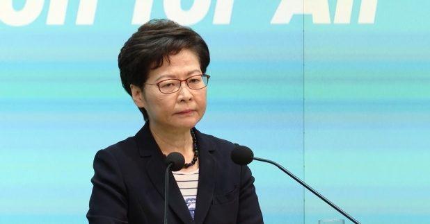 行政長官林鄭月娥評估現屆政府將無能力在一年內完成23條立法,但會盡力做好相關籌備工作。(廖漢榮攝)