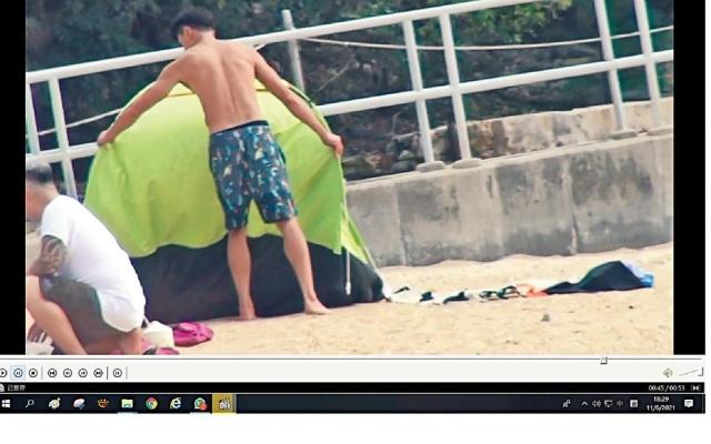 老婆行開咗   沙灘家庭樂遇一號波  黃浩然面燶睇實囝囝同帳幕
