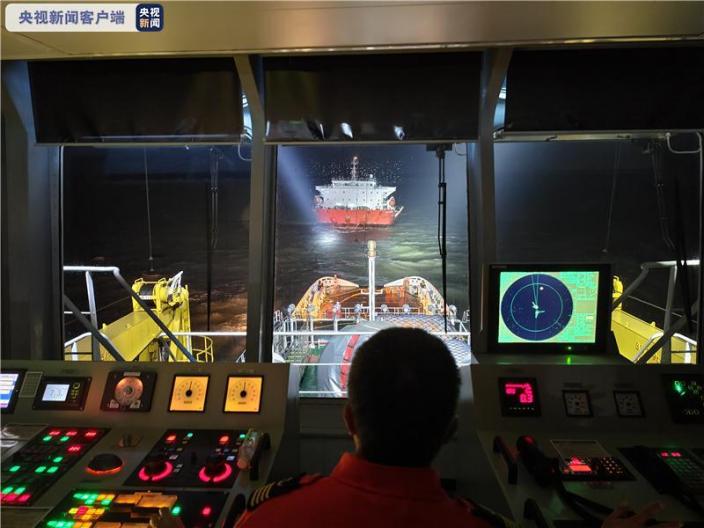 一外籍貨船在長江口金山航道遇險 17名船員全部獲救