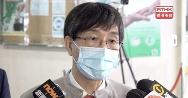 袁國勇說,若疫苗接種率有9成多,放寬多項社交距離措施才安全。(港台圖片)