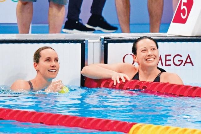 100米自由泳  三度創亞洲紀錄  何詩蓓再摘銀  團結港人感光榮