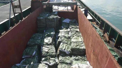 中國海警成功破獲一起特大海上香煙走私案