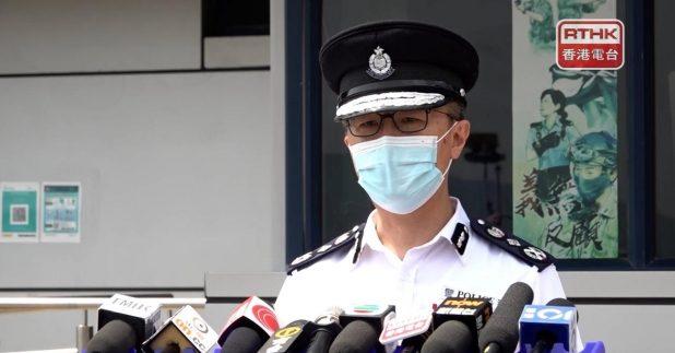 蕭澤頤表示,今次行動中水警有足夠安全措施,警隊人手充足,每次行動都會評估風險。(李錦華攝)